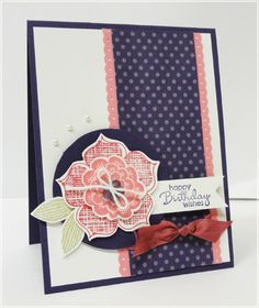 """Raining Flowers,"" Stampin Up"