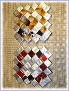 Hobbies And Crafts, Diy And Crafts, Paper Chains, Candy Wrappers, Duct Tape, Diy Paper, Paper Design, Recycling, Weaving
