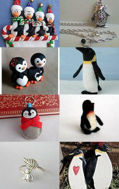 Penguin Mania - Penguin Etsy Treasury - Penguin Jewelry, Handmade Art, Needle Felted Penguin, Penguin Jewelry, Penguin Necklace, Felt Penguin, Christmas Penguin #penguin