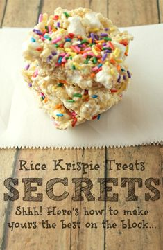 4 Secrets to the Best Rice Krispie Treats - Being Alison