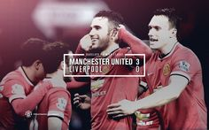 Match poster: Manchester United 3 - 0 Liverpool, 14 December 2014. Designed by @Manchester United.