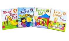 This set of books helps teach toddlers and early readers when and why we use good manners, reinforcing good behavior with reward stickers