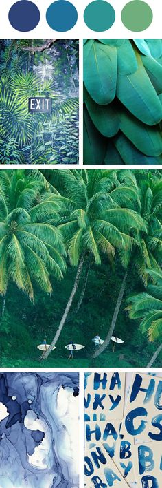 Tropical Blues and Green Color Palette from @designquixotic