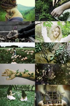 garden witch aesthetic (more here)