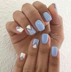 Gloomy Easter blue with accent nails