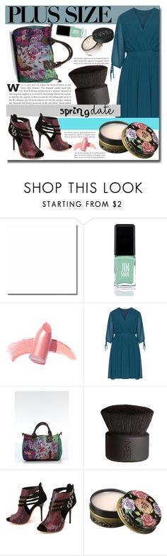 """""""Spring Date: Pretty Plus-Size Style"""" by budding-designer ❤ liked on Polyvore featuring JINsoon, Elizabeth Arden, Manon Baptiste, Desigual, NARS Cosmetics, Anna Sui, plussize, springdate and plussizefashion"""