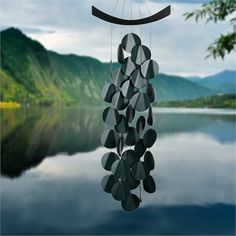Woodstock Evergreen Moonlight Waves Wind Chime Garden Mobile Summer Nights for sale online Wind Chime Parts, Wind Chimes For Sale, Wind Chimes Sound, Wind Chimes Craft, Calming Sounds, Curtain Designs, Summer Nights, Woodstock, Feng Shui