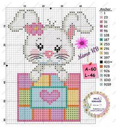 Tiny Cross Stitch, Beaded Cross Stitch, Cross Stitch Animals, Modern Cross Stitch, Counted Cross Stitch Patterns, Cross Stitch Designs, Cross Stitch Embroidery, C2c, Crochet Baby Mobiles