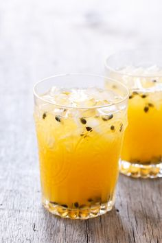 Meyer Lemon & Passion Fruit Lemonade - A little bit of sunshine on a cold winter (fall?) day.