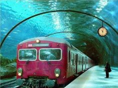 Underwater train in Venice // This is one of the coolest things I've ever seen. Hadn't seen this, cool! Italy Vacation, Italy Travel, Trains, Places To Travel, Travel Destinations, Travel Tips, Train Route, Train Trip, Seen
