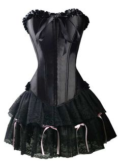 Nouveau produit : Ensemble corset et jupe fine en dentelle avec flot rose Vous aimez ? / New product do you like ? Prix: 24.90 #new #nouveau #japanattitude #ensembles #gothique #gothic #kawaii #corset #jupe #ensemble #noir #dentelle #mini #rock #tenue #robe #overbst #skirt #set #black #lace #outfit #dress