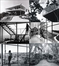Casa de Vidro, 1950 - Lina Bo Bardi, São Paulo, BR Architecture People, Architecture Design, Old Houses, Vintage Houses, Modern Houses, Famous Architects, Tropical Houses, Glass House, Facade
