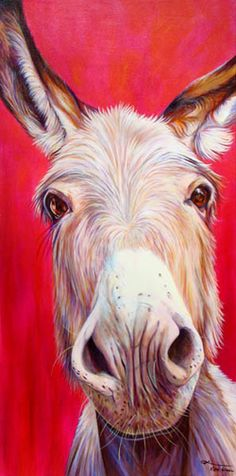 Vibrant donkey painting