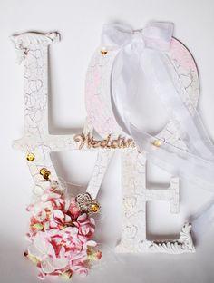 Wall Letters Wooden Words Wedding Decor Home от Mariacraftshop
