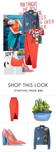 """05-7"" by saponacsve ❤ liked on Polyvore featuring Gucci, Love Quotes Scarves, C/MEO COLLECTIVE, Pollini, Au Jour Le Jour and RED Valentino"
