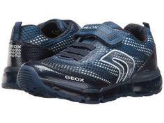 Geox Kids Jr Android Boy 11 (Little Kid/Big Kid) (Navy/Avio) Boy's Shoes