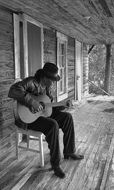 Playing Music On The Front Porch