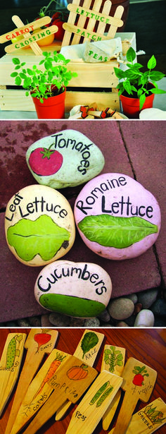 More Garden Markers. Some really kid friendly to try.