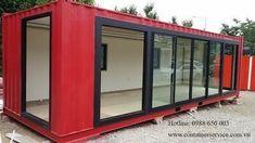Garden Office, Home Office, Cafe Design, House Design, Shipping Container Office, Shipping Containers, Container Van, Container Restaurant, Design Studio Office