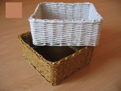 10 DIY Rolled Paper Crafts From Recycled Magazines Newspaper Basket, Newspaper Crafts, Paper Basket Weaving, Making Baskets, Rectangular Baskets, Recycled Magazines, Rolled Paper, Diy Paper, Paper Clay