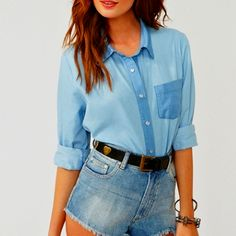 Chambray hipster style :)