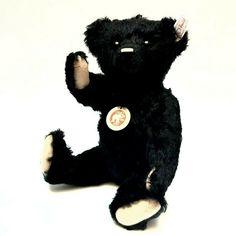 Teddy bear Steiff CLASSIC 1910 mohair black límited edition 1268/1910 NIB RARE🐻 #Steiff #AllOccasion Steiff Teddy Bear, Vintage Toys, Classic, Animals, Ebay, Derby, Animales, Animaux, Classical Music