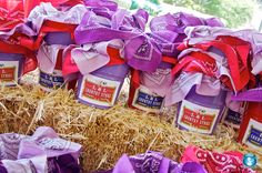 cute labels/buckets for farm themed party favors