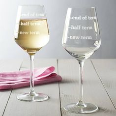 Is this too inappropriate for a teacher christmas gift?>>> teachers wine glass by becky broome | notonthehighstreet.com