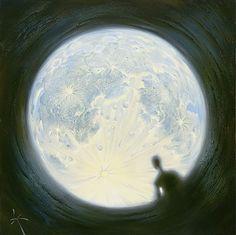 Vigilancia de la Luna - Vladimir Kush