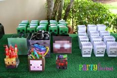 Minecraft Birthday Party Favor Ideas www.spaceshipsandlaserbeams.com