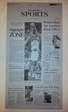 2002 KOBE BRYANT AUTOGRAPHED LOS ANGELES PRINTING PLATE PSA/DNA   #NBA #Kobe #24 #BlackMamba #NBAFinals #LATIMES #LakerNation #PrintingPlate #PressPlate #Autograph