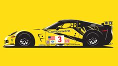 You will ❤ MACHINE Shop Café... ❤ Best of Racing @ MACHINE ❤ (Corvette Racing Car by Tod Deppe)