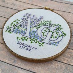 Cute greek letter needle point