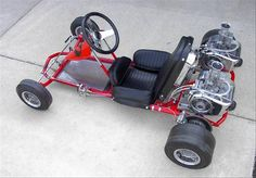 vintage go karts | 1969 vintage Rupp Chaparral with dual McCulloch 12- Photo