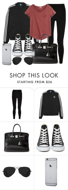 """""""Style #11670"""" by vany-alvarado ❤ liked on Polyvore featuring T By Alexander Wang, adidas Originals, H&M, Hermès, Converse and Ray-Ban"""
