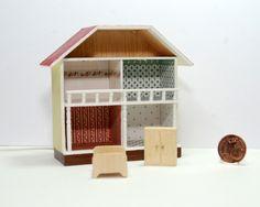 Mini-Puppenhaus 1:144 und Möbel 1:144 Design & handcrafted by Kreamini