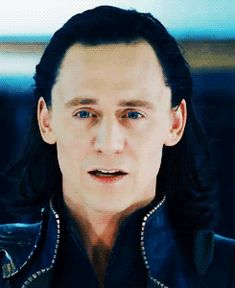 "Reblog if Loki.  Gif of Tom Hiddleston as Loki in The Avengers clip - Loki Imprisoned.  ""Ooooh."""