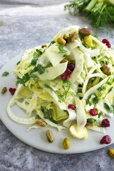 Crunchy Kohlrabi, Apple and Fennel Salad with Yogurt dressing