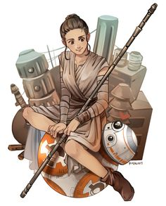 Rey & BB-8 | Star Wars: The Force Awakens