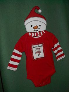 New Baby Boy or Girl Snowman Red Holiday Christmas Outfit Sz 0-3 M Hallmark Cute #GrasslandsRoad #Holiday eBay item number: 161486801972