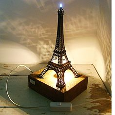 Eiffel Tower Desk Lamp - look at those shadows it sends out!