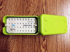 1Pc New Dental Green Plastic Endo Box With A Ruler On Sale #HTM