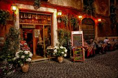 Rome - Would love to visit a little cafe like this