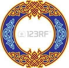 Vector Oriental Rosette ornamento chino Foto de archivo