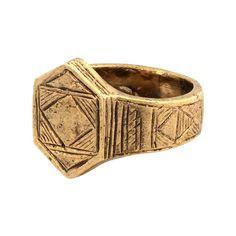 Afghani Hexagon Stack Ring