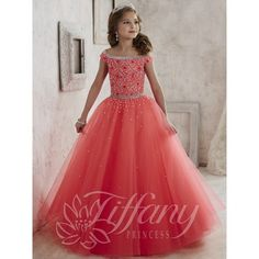 Cheap beaded appliques for wedding dresses, Buy Quality beaded prom dress directly from China dress satin Suppliers: New Princess beading crystals glitz party pageant dress for juniors off the shoulder long tulle ball gowns kids frock design Junior Pageant Dresses, Little Girl Pageant Dresses, Gowns For Girls, Pageant Gowns, Pagent Dresses For Kids, Girls Dresses, Flower Girl Gown, Flower Girls, Flower Dresses