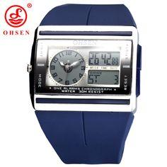Relogio Masculino OHSEN Fashion Sports Watch OHSEN Brand LED Electronic Wrist Watch Dual Core Waterproof Military Digital Watch #Affiliate