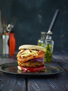 Linsen-Burger mit Gurkensalat Rezept - [ESSEN UND TRINKEN]