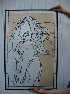 Horse by Barb Putnam | Stained glass ANIMALS-CRITTERS | Pinterest