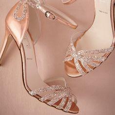 Rank & Style - BHLDN Rose Gold Glittered Heels #rankandstyle